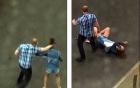 Video níu kéo không thành, chàng trai hung bạo đánh người yêu giữa phố