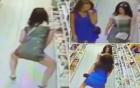 Cô gái trộm kẹo giấu trong quần bị camera ghi lại