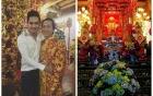 Mẹ ruột Hoài Linh trổ tài ca hát trong ngày khánh thành nhà thờ trăm tỷ 4