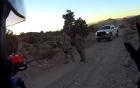 Lính Mỹ trấn áp 2 vị khách lạ mặt cố tiếp cận căn cứ quân sự tuyệt mật