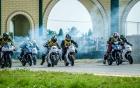 Va chạm liên hoàn tại giải đua mô tô HappyLand ở Long An