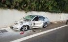 Xe Mercedes chạy ngược chiều, gây tai nạn liên hoàn