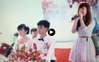 Xôn xao clip cô dâu giận dỗi người yêu cũ chú rể hát trong đám cưới