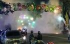 Đèn trang trí tết bốc cháy trên đường phố Sài Gòn