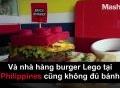 Chàng trai trẻ làm giàu từ burger hình lego