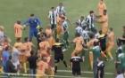 Cầu thủ, CĐV Brazil lao vào loạn đả dữ dội trên sân