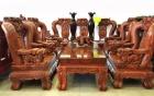 Bộ bàn ghế gỗ trắc chế tác suốt 18 tháng giá cả tỷ đồng