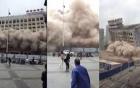 Tòa nhà 12 tầng bị phá hủy trong vài giây