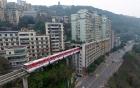 Thú vị với đường dành cho xe ô tô trên nóc nhà ở Trung Quốc