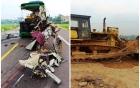 Vụ tai nạn thảm khốc làm 5 người chết tại Bình Định: Nguyên nhân do lưỡi máy ủi?