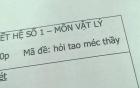 """Loạt mã đề thi """"bá đạo"""" của thầy giáo cấp ba khiến học sinh """"tắt điện"""""""