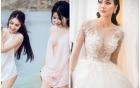 """Hot girl """"tuyệt tình cốc"""" mặc váy cưới xuyên thấu trong ngày về nhà chồng"""
