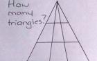 Bài Toán đếm hình tam giác tưởng dễ như lớp 1 đang khiến cư dân mạng đồng loạt bối rối