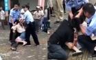 Trung Quốc: Cô gái bất ngờ cắn chặt lưỡi bạn trai, cảnh sát phải xịt hơi cay vào mặt mới chịu nhả