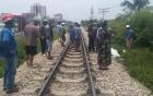 Hai người tử vong tại chỗ khi đi xe máy cố băng qua đường sắt