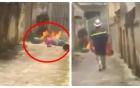 Con rể xích mích liền mang mấy bình gas ra nhà bố mẹ vợ đốt để dằn mặt