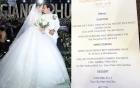 Choáng với thực đơn tiệc cưới sang trọng của Trường Giang - Nhã Phương