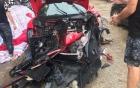 Siêu xe 16 tỷ đồng nghi của Tuấn Hưng gặp tai nạn vỡ nát phần đầu
