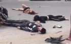 Người nằm sấp, người nằm ngửa trên đường sau vụ tai nạn xe đạp điện ở Hải Dương