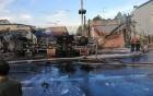 Hiện trường vụ tai nạn thảm khốc ở Bình Phước: 6 người tử vong, 16 căn nhà bị thiêu rụi