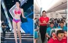 Nữ tiếp viên đi cùng tuyển AFF Cup VN từng thi Hoa hậu Việt Nam