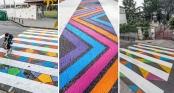 Tròn mắt với những vạch sang đường đầy tính nghệ thuật khiến ai cũng muốn qua