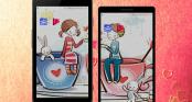 Tạo hình nền đôi nhân dịp Lễ Tình Yêu - Valentine