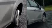 Nữ tài xế vô tư lái ô tô không lốp trên xa lộ suốt 26km