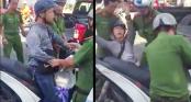 Thanh niên bị công an giữ xe SH giả vờ ngất xỉu vài giây rồi tỉnh