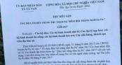 Sa Pa: Lãnh đạo xã lên tiếng về thư kêu gọi ủng hộ cả triệu tiền trung thu