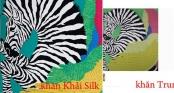 Khăn lụa Khải Silk bán hàng triệu đồng, mẫu tương tự bên Trung Quốc chỉ bằng 1/10 mức giá