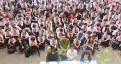 TP.HCM: Tiết chào cờ đặc biệt, học sinh nghe xử án bạo lực học đường tại sân trường