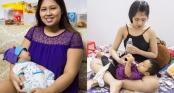 Bà mẹ tăng đến 100kg khi mang bầu, sau khi sinh \