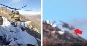 Khoảnh khắc hãi hùng: Trực thăng Thổ Nhĩ Kỳ thoát tên lửa trong gang tấc