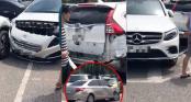 Hà Nội: Đang để gọn gàng trong bãi đỗ sân bay, 3 xế hộp đen đủi vẫn bị \