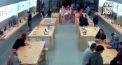 Clip: Băng cướp táo tợn lấy đi số lượng iPhone và MacBook trị giá 27.000 USD trong chớp mắt