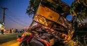 Thông tin mới vụ xe khách tông chết hai cháu bé ở Bình Dương