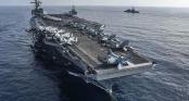Cận cảnh hai tàu sân bay Mỹ tập trận ở biển Đông