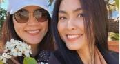 Tăng Thanh Hà sang Mỹ thăm mẹ con Thân Thúy Hà
