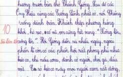 Những bài văn điểm 10 của bé lớp 3