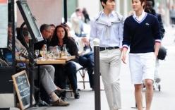 TVXQ phong cách dạo phố Paris