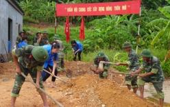 Bộ đội góp sức xây dựng nông thôn mới trên đảo