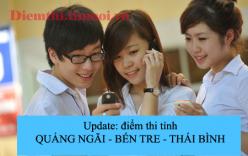 Điểm thi tốt nghiệp THPT năm 2013 Update: Phú Thọ, Đắc Nông, Cần Thơ