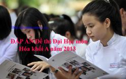 Đáp án đề thi đại học môn Hóa khối A năm 2013 - Đáp án chính thức của Bộ GD & ĐT