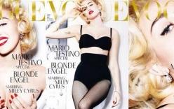 Miley Cyrus nude khoe trọn vòng một trên trang bìa tạp chí Vogue