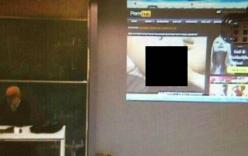 Thầy giáo chiếu phim sex cho cả lớp xem ngay trong giờ học