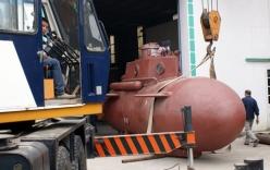 Tàu ngầm tự chế Trường Sa lại chạy thử trong hồ