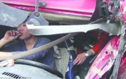 Tai nạn nghiêm trọng, tài xế chỉ cho cứu sau khi gọi cho vợ