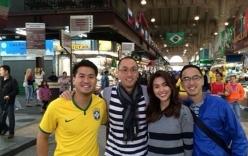 Vợ chồng Hà Tăng chứng minh đẳng cấp đi xem World Cup 2014