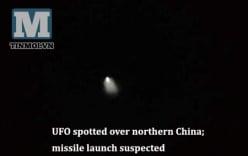 Xuất hiện UFO ở phía bắc Trung Quốc